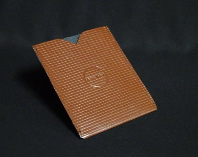 Passport Sleeve - Brown Stripe - Kangaroo leather with optional RFID chip blocking - Handmade - James Watson