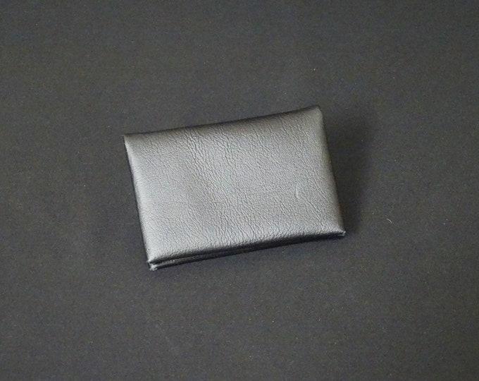 Bantam 6Pocket Wallet - Genuine Kangaroo Leather Mens Womens Strong Slim Stitchless Card Cash Coin Key Leather Wallet RFID - Black