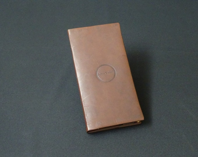 Apple iPhone 8Plus 7Plus 6Plus 6SPlus - Genuine Kangaroo Leather Phone Mobile Protective RFID Holder Case Wallet - Brandy Tan