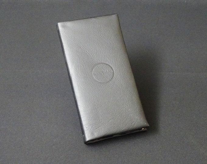 Apple iPhone 8Plus 7Plus 6Plus 6SPlus - Genuine Kangaroo Leather Phone Mobile Protective RFID Holder Case Wallet - Black Satin