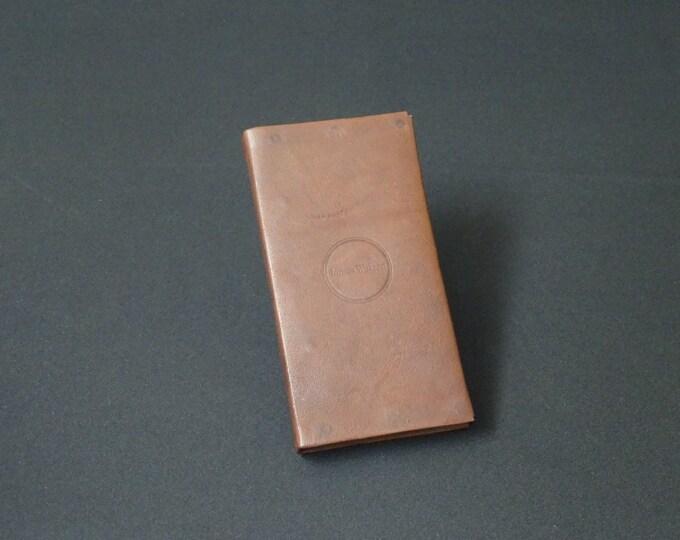 Apple iPhone 8 7 6 6S - Smartfold Phone Wallet - Genuine Kangaroo Leather Phone Protective Rubber Case Wallet RFID - Brandy Tan
