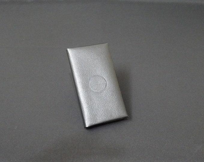 Apple 5 5S 5SE 5C - Smartfold Phone Wallet - Genuine Kangaroo Leather Phone Protective Rubber Case Wallet RFID - Black Texture