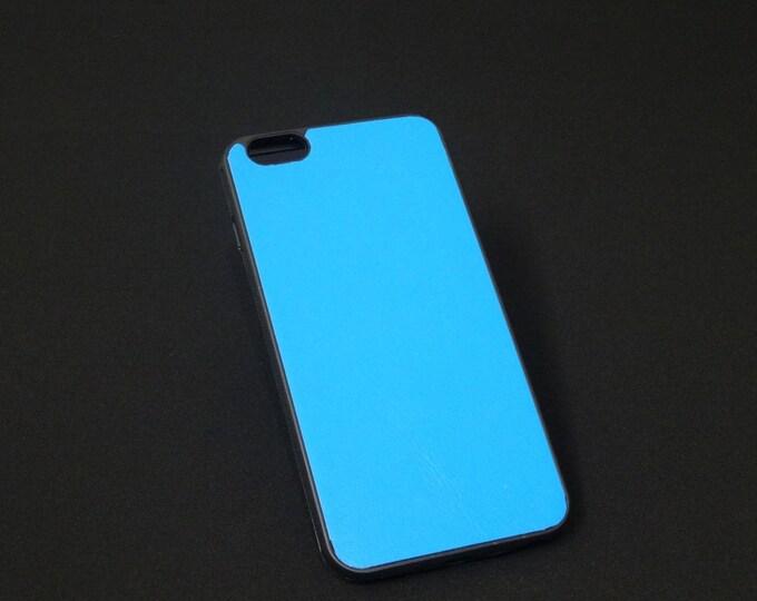 Apple iPhone 6 Plus + - Jimmy Case - Genuine Kangaroo Leather Protective Rubber Flexible Phone Holder Case - Sky Blue