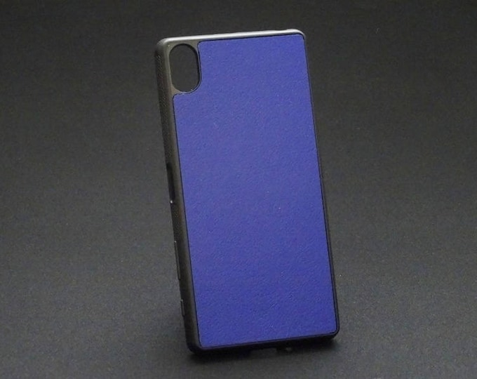 Sony XZ XZs - Jimmy Case in Blue - Kangaroo leather - Handmade - James Watson