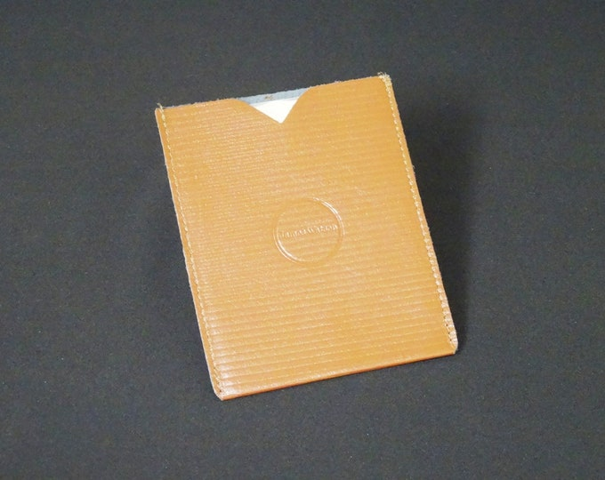Passport Sleeve with Chip Protection - Kangaroo leather travel pouch rfid pass ticket handmade - Gloss Brown Stripes