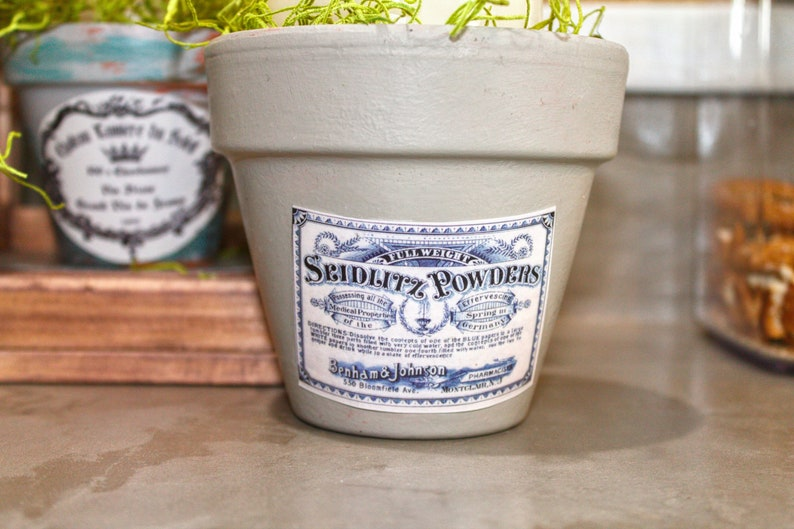 decoupaged flower pots French country style flower pots Decorative small flower pots