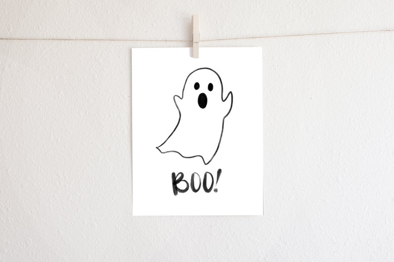 photo regarding Ghost Printable known as Boo! Adorable Ghost - Printable Halloween Encouraged Artwork - Immediate Obtain - Wall Artwork Property Decor Bash Decor Family vacation Decor