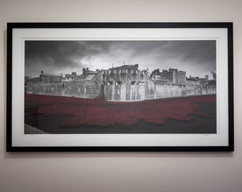 London Fine Art Photo Print: Tower of London Poppies, Remembrance, Blood Swept Lands, TowerPoppies,
