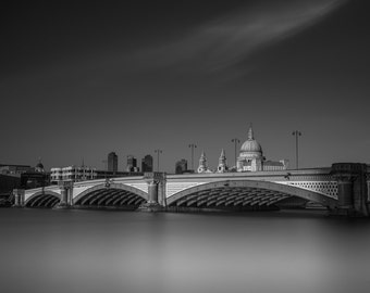 London Fine Art Photo Print: St. Paul's Cathedral and Blackfriars Bridge