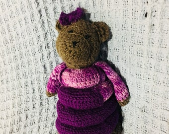 Crochet Teddy Ring Stack