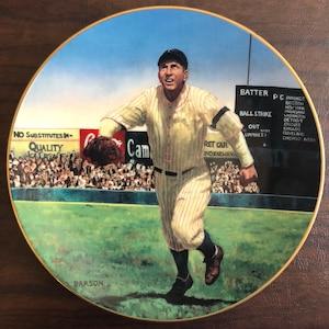 22kt Gold Rim Christy Mathewson The Legends of Baseball Collectible Plate 1905 World Series