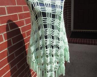 Crochet Pattern:  Spider Stitch Poncho