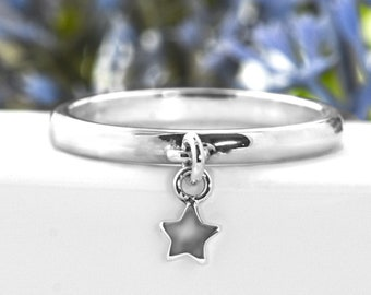 Star Charm Ring | 925 Sterling Silver | You're a star gift