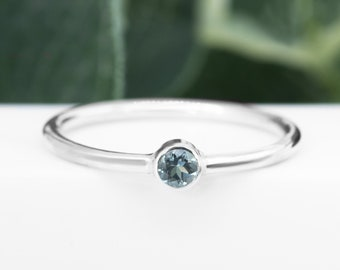 Aquamarine Ring | A Grade Gemstone | 925 Sterling Silver March Birthstone Ring