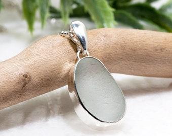 Sea Glass Necklace | Sea Glass Jewelry | Sterling Silver Seaglass Necklace | Beach Glass Necklace | Sea Glass Pendant | Seaglass UK