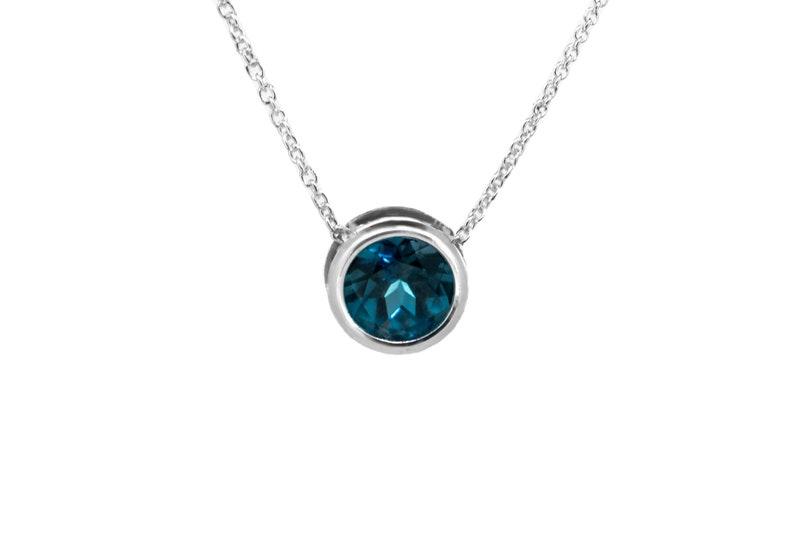 London Blue Topaz Jewelry   925 Sterling Silver Slider image 0