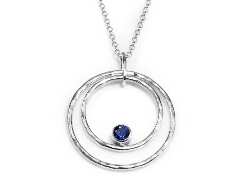 Iolite Necklace  925 Sterling Silver Statement Necklace image 0