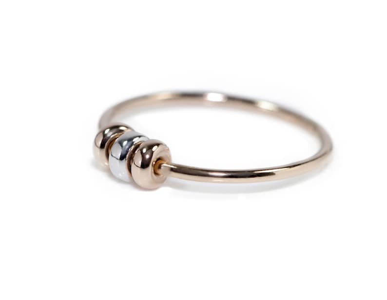 9ct Gold Fidget Ring  Solid Gold Ring  Spinner Rings  image 0