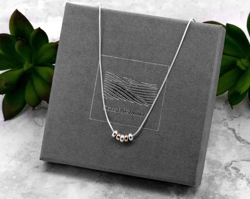 Silver 50th Birthday Gift  Snake Chain Necklace image 0