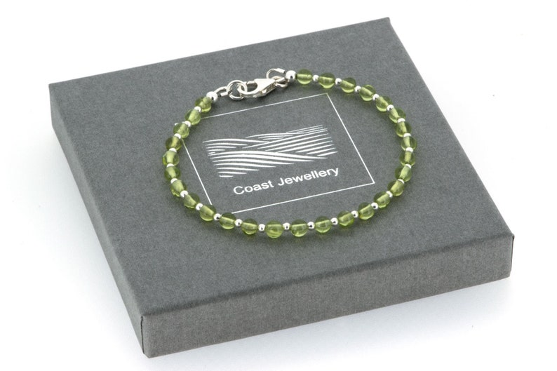 Peridot Bracelet  Sterling Silver Real Gemstone image 0
