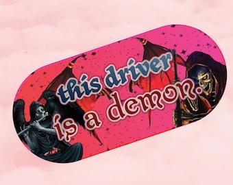 demon driver bumper sticker UV resistant 6x2 in