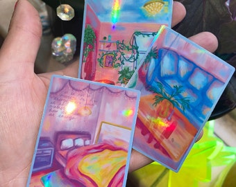 magic room sticker pack holographic laptop waterbottle stickers