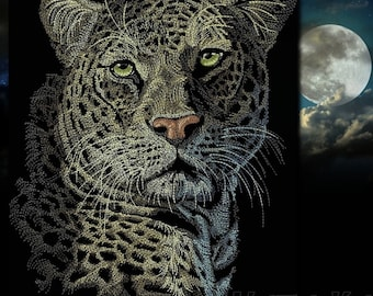 In The Night... (Cheetah). Machine embroidery designs.