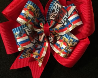 Transformers Pinwheel Boutique Hair Bow