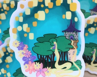 Lost Princess  Sticker | Vinyl Sticker | Dishwasher safe Sticker | Weatherproof Sticker | Laptop Sticker | Flask Sticker | Princess