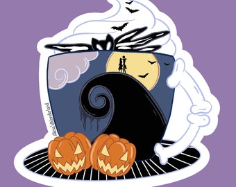 Spooky Mug Vinyl Sticker | Spooky Mug | Spooky Sticker | Halloween Sticker