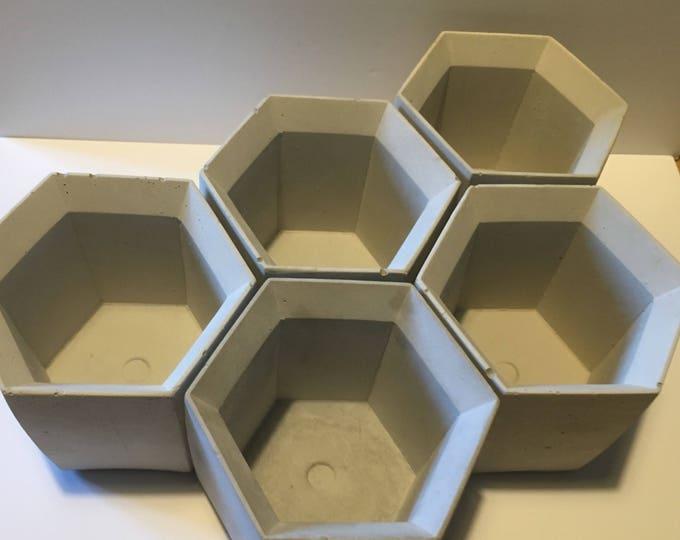 Concrete Planter//Geometric Planter// Concrete Pen Pot// Industrialist Planter