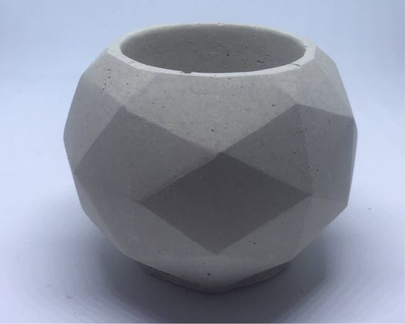 Geodesic Sphere Concrete Planter/ Tealight Holder - Small// Cactus Planter//Succulent Planter//Geometric Planter
