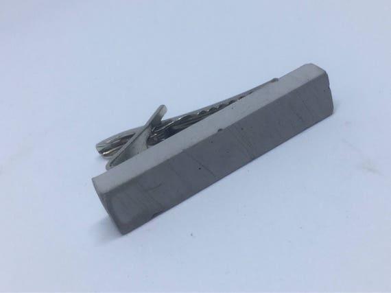Concrete Tie Clip // Concrete Tie Bar // Alternative Tie Clip // Brutalist Tie Clip