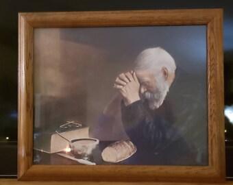 The Man Praying Etsy