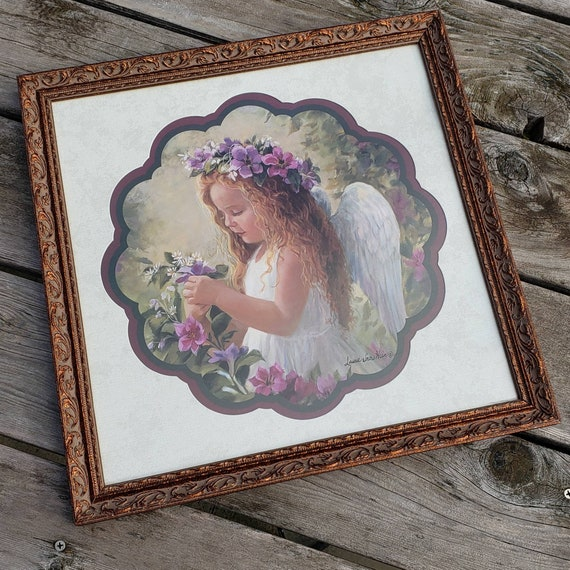 Home Interiors Angel Girl A Treasure In The Garden Picture Etsy