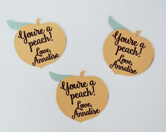 One Sweet Peach Party You/'re A Peach Party Favor Tags Peach Birthday Favor Tags Custom Parties by PartyAtYourDoor on Etsy