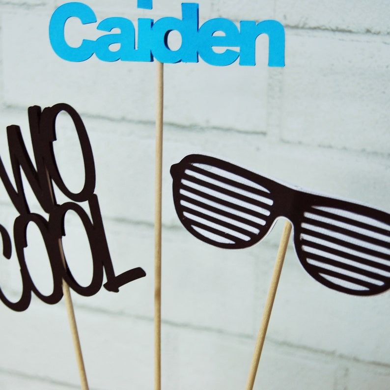 Two Cool Party Two Cool Centerpiece Sunglasses Centerpiece Custom Parties by PartyAtYourDoor on Etsy Second Birthday Centerpiece