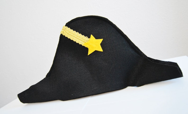 Colonial Hat 18th Century Costume Hamilton Inspired Party Hats Custom Parties by PartyAtYourDoor on Etsy Naval Cocked Hat Felt Hat