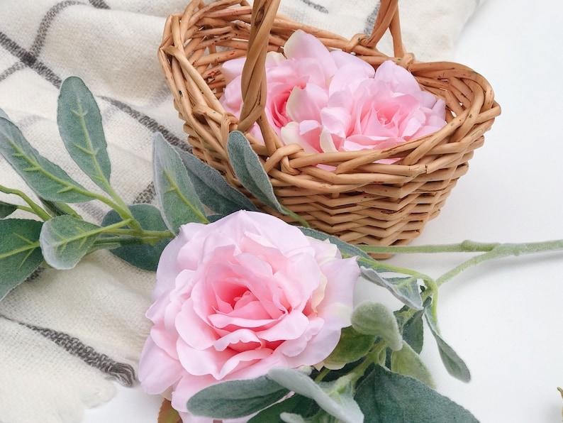 Pink artificial rose pink artificial flower artificial image 0