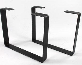 Set Of 2 Heavy Duty Steel Legs, Coffee Table Legs, Industrial Table Legs,  Bench Legs