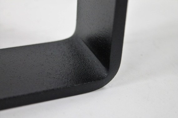 Steel Coffee Table Legs Powdercoated Wide Top Trapezoid Industrial Handmade DIY