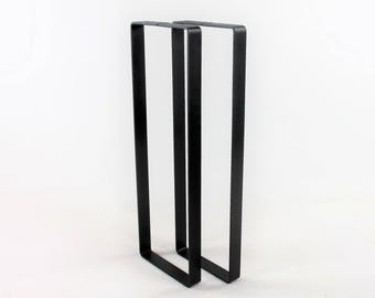 Set of 2 Sofa Table Legs, Steel Legs, DIY Furniture, Flat Iron, Industrial, Behind the Couch Table Legs