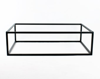 Box Frame Base For Coffee Table/End Table/Night Stand/Textured Satin Black Powdercoat/Hand Fabricated To Order/1 x 1 Square Steel