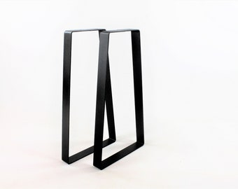 Heavy Duty Sofa Table Legs/Black/Wide Base Trapezoid/Metal Table Leg/Steel Table Legs/Hand Fabricated to Order/Choose Your Height and Width