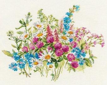 Cross Stitch Kit Flowers / Bouquet/ Cuisine/