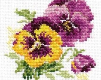 Cross Stitch Kit beginner / children / flower