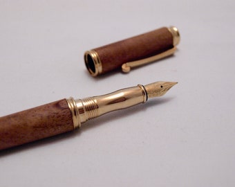 Gold and Cherry Fountain Pen
