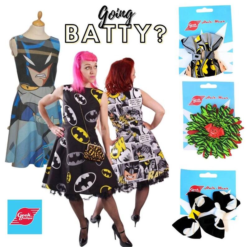 Zombie Bat Fabric Flower Hair /& brooch accessory