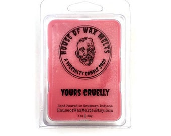 Alluring Floral, Jasmine, Ylang Ylang and Clary Scented, Horror Themed Wax Melts - Yours Cruelly by House of Wax Melts