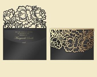 Floral Cricut Invite Etsy